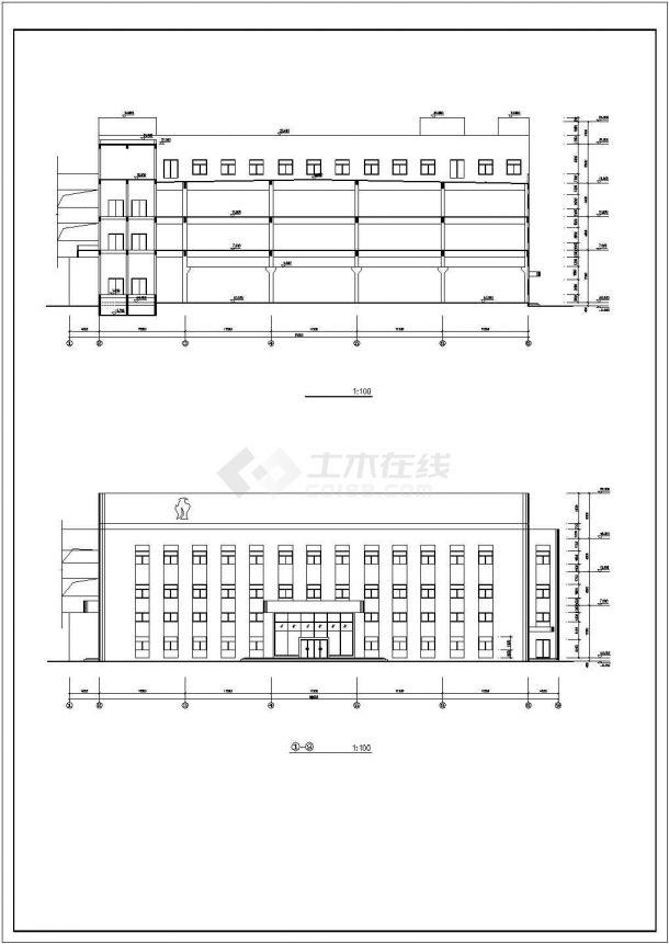 厂房设计_长91米 宽65.5米 4+1夹层大型厂房建筑施工图【平立剖 节点详图】CAD设计施工图纸-图一