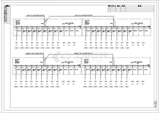 某两层办公楼电气设计施工图-图二