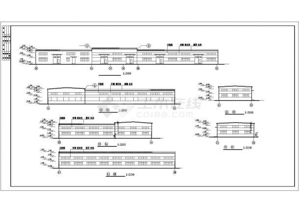 厂房设计_长108.93米 宽18米 单层厂房建筑施工图【平立剖 窗大样 屋脊节点】CAD设计施工图纸-图一