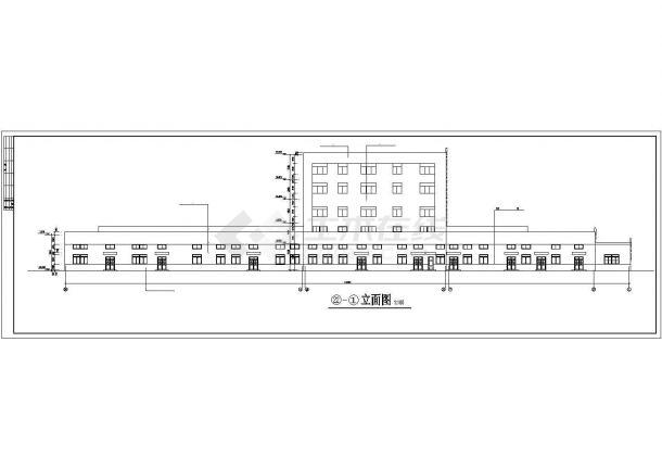 厂房设计_长114.3米 宽28.04米 主2层局部5层乳业公司奶粉厂房建筑施工图【平立剖】CAD设计施工图纸-图一