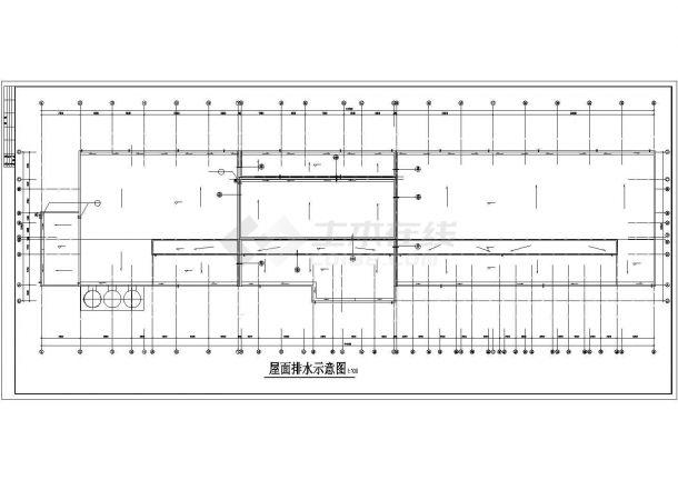 厂房设计_长114.3米 宽28.04米 主2层局部5层乳业公司奶粉厂房建筑施工图【平立剖】CAD设计施工图纸-图二