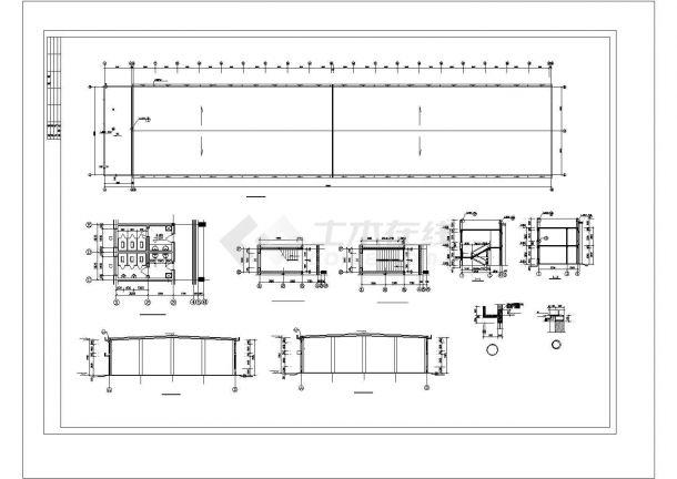 厂房设计_2层面粉厂房建筑施工图【平立剖 楼梯 门窗卫生间大样】CAD设计施工图纸-图二