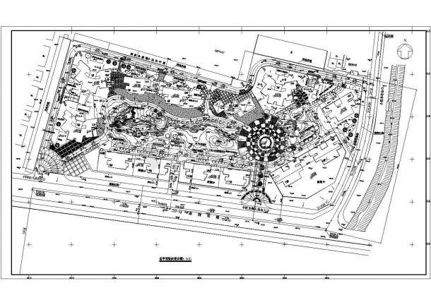 重庆市望州路万和家园小区总平面规划设计CAD图纸-图一