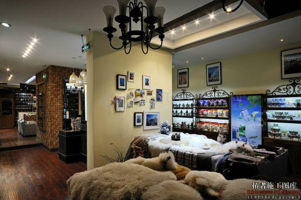 泊然澳洲生活馆混搭风格室内装修设计cad全套施工图(含高清效果图)-图二