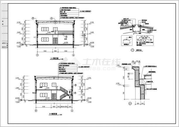 厂房设计_2层740.28平米精密仪表厂房建筑施工图【平立剖 楼梯 节点大样】CAD设计施工图纸-图二