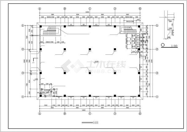 厂房设计_4层厂房建筑施工图【平立剖 楼梯 门窗大样 基础平面图 独立基础大样图】CAD设计施工图纸-图一