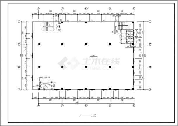厂房设计_4层厂房建筑施工图【平立剖 楼梯 门窗大样 基础平面图 独立基础大样图】CAD设计施工图纸-图二