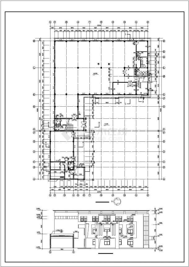 厂房设计_3层1037.56平米厂房建筑施工图【平立剖 总平 门窗大样 说明】CAD设计施工图纸-图二