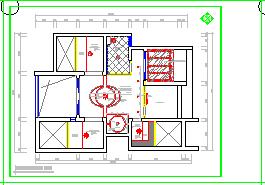 别墅家居装修cad平面图线路布置设计施工图-图一