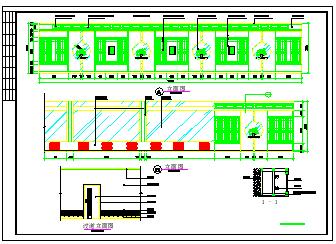 餐厅饭店包房室内装修cad立面设计施工图纸-图一