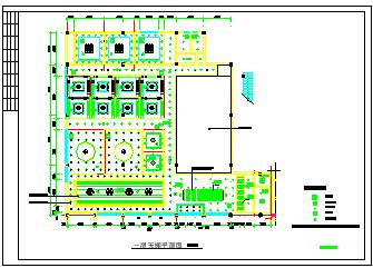 餐厅饭店包房室内装修cad立面设计施工图纸-图二