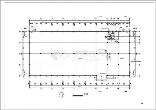 厂房设计_2层厂房建筑施工图【平立剖 楼梯门窗大样】CAD设计施工图纸-图二