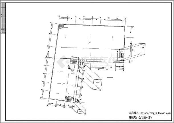 厂房设计_3层V型厂房建筑施工图【平立剖 目录 各部分构造做法表】CAD设计施工图纸-图一