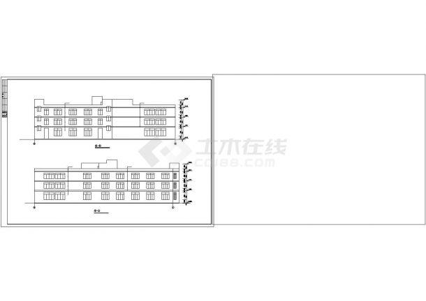 厂房设计_3层V型厂房建筑施工图【平立剖 目录 各部分构造做法表】CAD设计施工图纸-图二