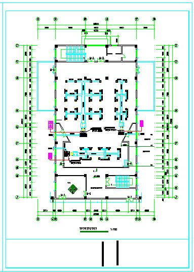 高档会议厅空调cad平面设计施工图-图一