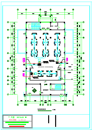 高档会议厅空调cad平面设计施工图-图二