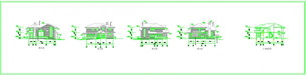 几套别墅建筑设计cad方案图纸-图一