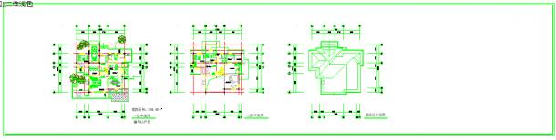 几套别墅建筑设计cad方案图纸-图二