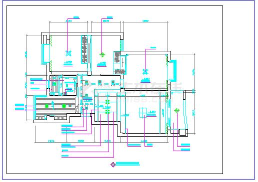 家庭室内装修cad立面施工设计图纸-图二