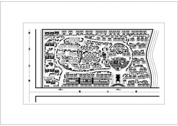 某长方形地块居民小区规划设计cad总平面施工图-图二