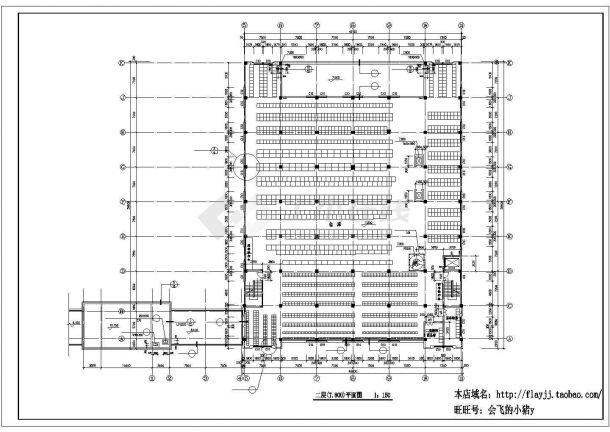 厂房设计_长64.68米 宽59.6米 3层厂房建筑施工图CAD设计施工图纸-图一
