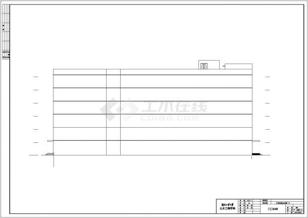 【6层】6549平某商业办公楼CAD毕业设计(含计算书、施工组织设计、建筑结构设计图)-图一