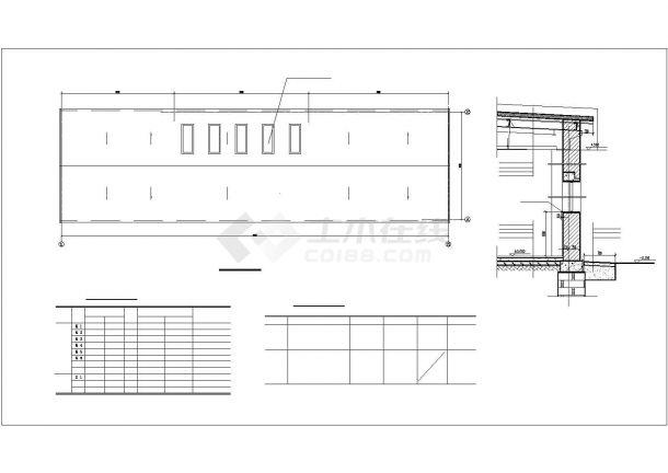 厂房设计_单层2155.84平米食品加厂房建筑施工图【平立剖 说明】CAD设计施工图纸-图一