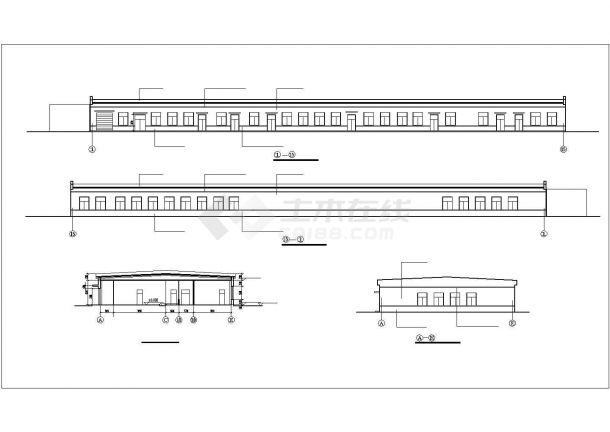 厂房设计_单层2155.84平米食品加厂房建筑施工图【平立剖 说明】CAD设计施工图纸-图二