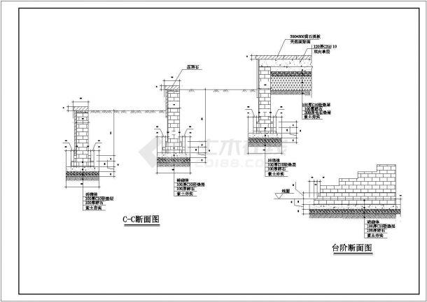 某住宅中心广场及宅间绿地全套景观施工设计cad图纸-图一
