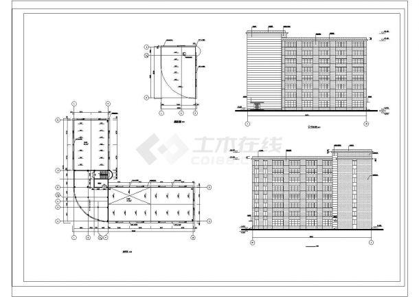 【8层】10441.17平米框架办公楼CAD毕业设计(计算书、建筑、结构图)-图一