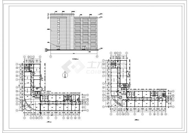 【8层】10441.17平米框架办公楼CAD毕业设计(计算书、建筑、结构图)-图二