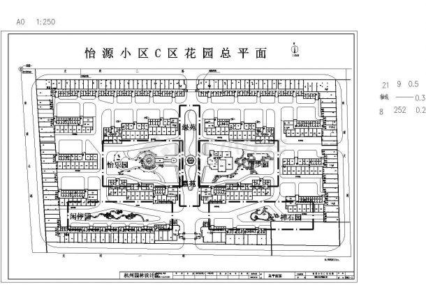 【上海】某地蒲城怡园小区全套景观施工设计cad图纸-图二