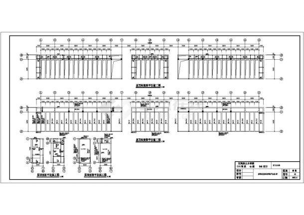 某3611.42平米CAD四层带构架层办公楼毕业设计(含计算书,建筑、结构图)-图一