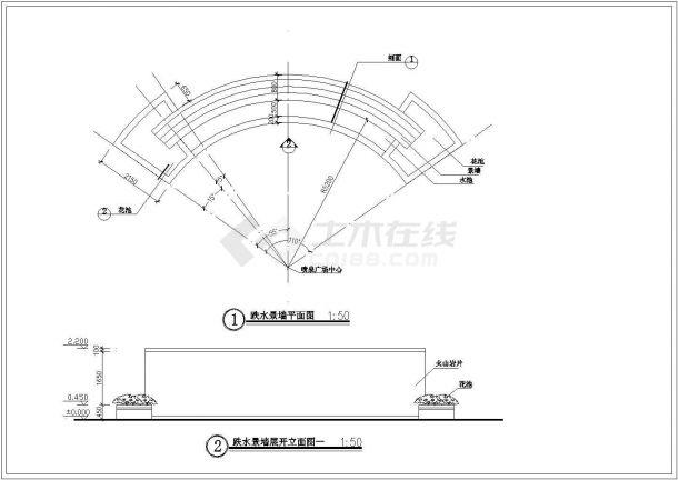 【南京】某地新型高档小区环境全套景观施工设计cad图纸-图一