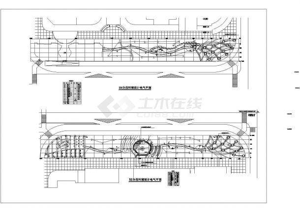 【杭州】某地高档新型风格小区全套景观施工设计cad图-图一