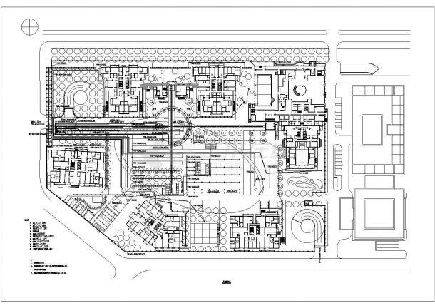 【杭州】某地高档新型风格小区全套景观施工设计cad图-图二