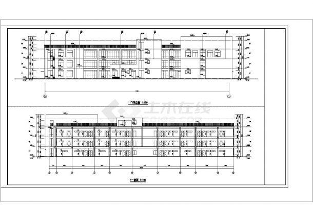 某幼儿园校园建筑方案设计施工CAD图纸-图二