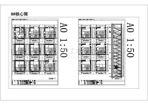 某大学科学与艺术中心教学楼建筑方案设计施工CAD图纸-图一