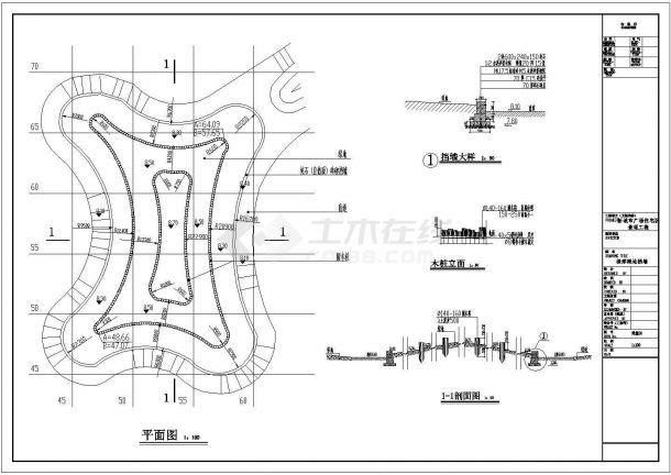新城市广场住宅景观工程全套施工cad图(含新城市广场网格、总平面图)-图一