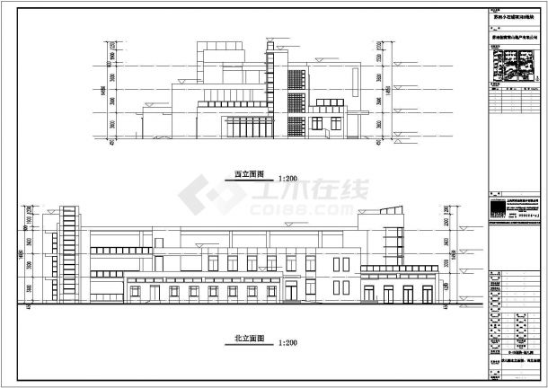 某市区高级幼儿园建筑方案设计施工CAD图纸-图一
