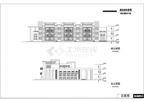 某市区绿色家园幼儿园建筑全套设计施工CAD图纸-图一