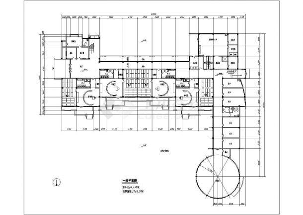 某市区绿色家园幼儿园建筑方案设计施工CAD图纸-图一