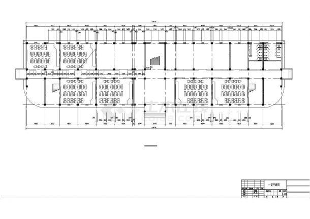 某5627.7平米CAD五层中学教学楼(含计算书、部分建筑图)-图一