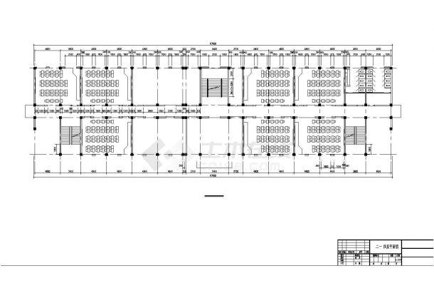 某5627.7平米CAD五层中学教学楼(含计算书、部分建筑图)-图二