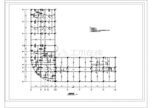 某10441.17㎡8层框架CAD办公楼毕业设计(计算书、建筑、结构图)-图二