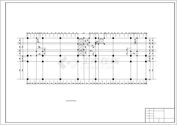 某12880平米CAD10层框架办公楼毕业设计(含计算书,部分建筑、结构图)-图一