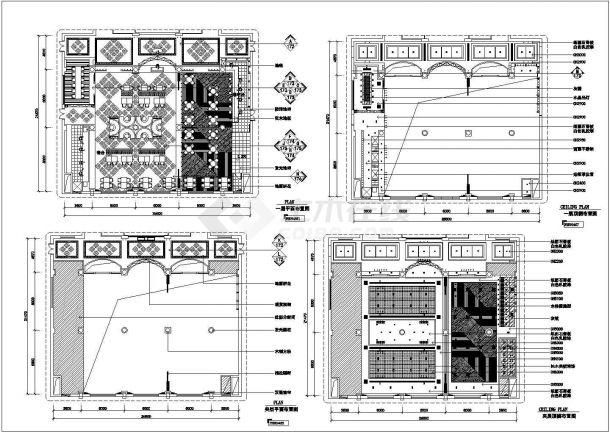 某现代风格西餐厅装修设计cad全套施工图-图一