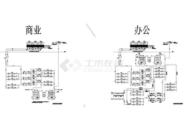 [施工图][广东]超高层商业办公综合楼暖通空调系统cad施工图-图二