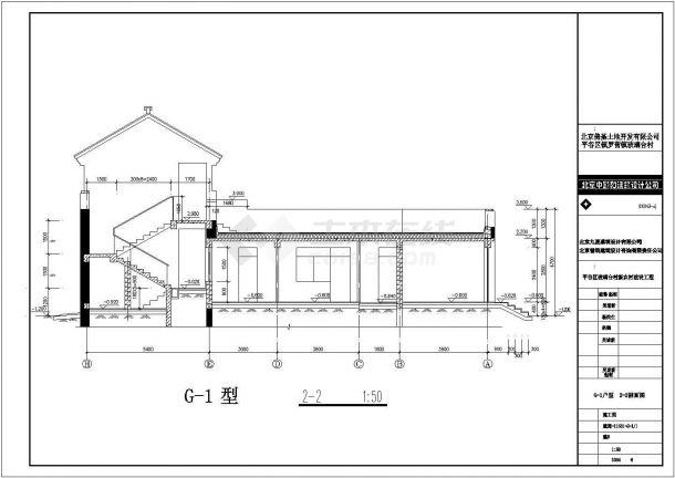 济南市某现代村镇206平米双层混合结构单体别墅建筑设计CAD图纸-图一
