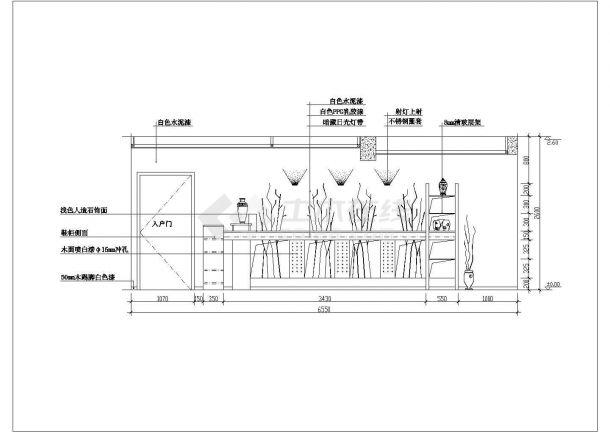 经典家装餐厅cad立面施工详图图集-图二